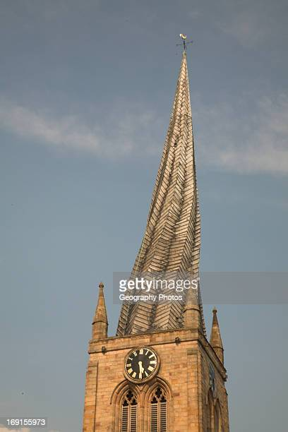 St Marys and All Saints Parish Church with crooked spire Chesterfield Derbyshire England