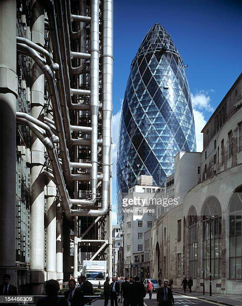 30 St Marys Axe The Gherkin Swiss Re London United Kingdom Architect Foster And Partners Swiss Re Tower St Mary Axe Gherkin Swiss Re And The Lloyds...