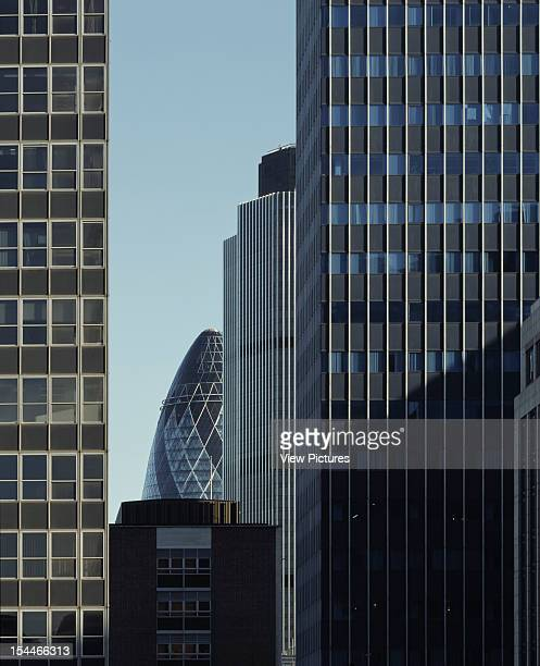 30 St Marys Axe The Gherkin Swiss Re London United Kingdom Architect Foster And Partners Swiss Re Tower St Mary Axe Gherkin From Barbican With Tower...
