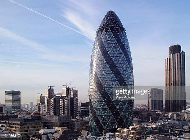 30 St Marys Axe The Gherkin Swiss Re London United Kingdom Architect Foster And Partners Swiss Re Tower St Mary Axe Gherkin Skyline