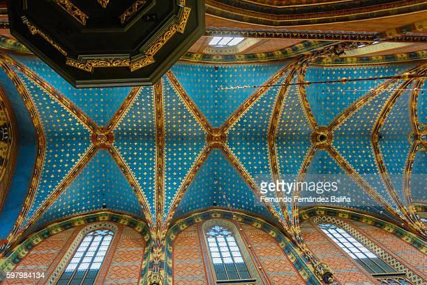 st. mary's basilica, kraków - kraków ストックフォトと画像