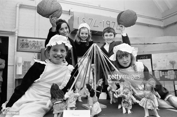 St Mary's C of E School Alcock Green Birmingham is celebrating its centenary in 1974 in celebration classmates dress in 1800's attire Tuesday 26th...