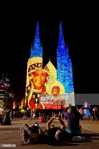 st mary's cathedral-luces de navidad - mary moody fotografías e imágenes de stock