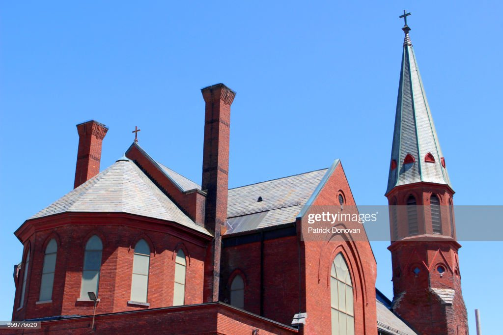 St. Mary's Catholic Church, Ballston Spa, New York, USA : Stock-Foto