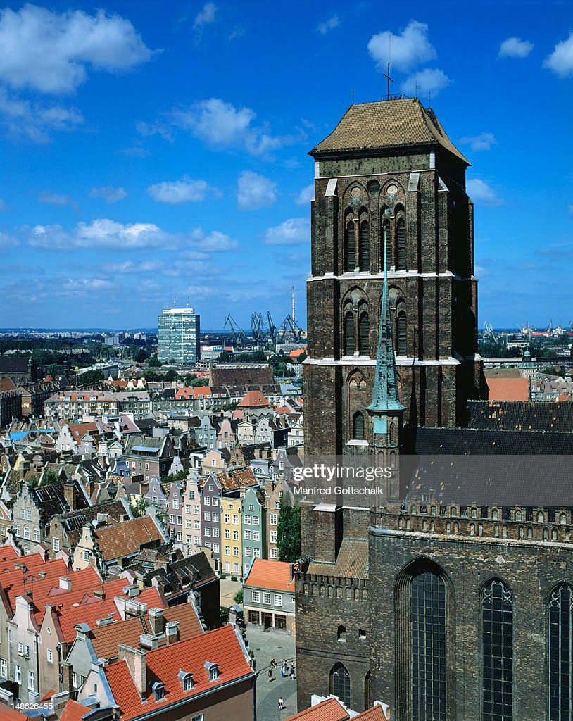 St Mary's Church and city rooftops. : Foto de stock