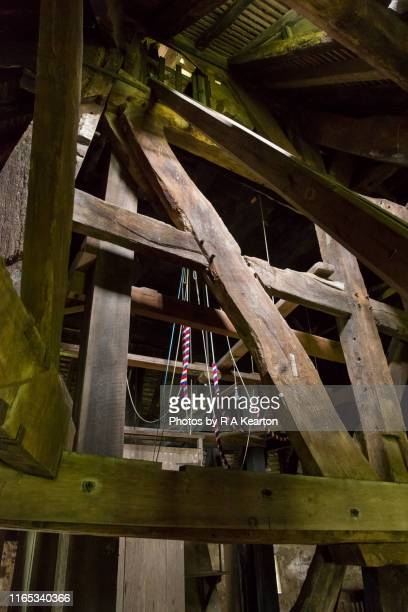 st mary's church belltower, pembridge, herefordshire - mary moody fotografías e imágenes de stock