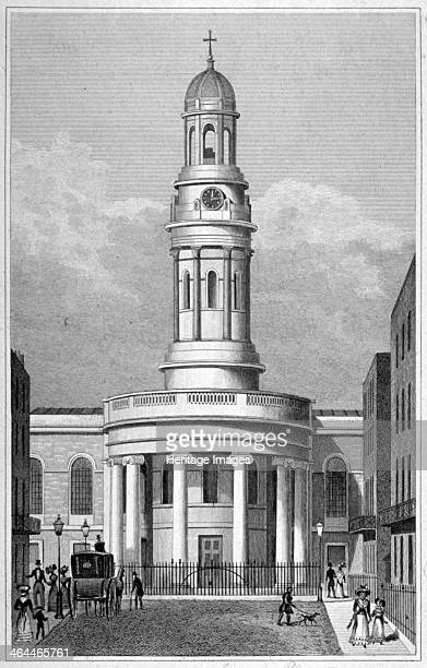 St Mary's Church Bryanston Square Marylebone London c1825 View of the church designed by Sir Robert Smirke and built in 18231824