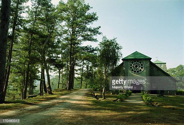 St Mary's Church is an old Episcopal church in the haert of Sagada Mt Province Philippines 2003