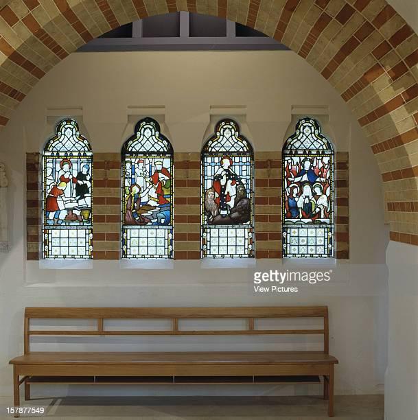 St Marys Church, London, United Kingdom, Architect Thomas Ford Partnership, St Marys Church Arch And Bench.