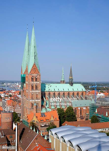 st. marys church, lubeck, schleswig-holstein, germany - schleswig holstein stock pictures, royalty-free photos & images