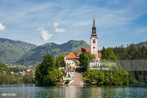 St. Mary's church on Bled lake, Slovenia