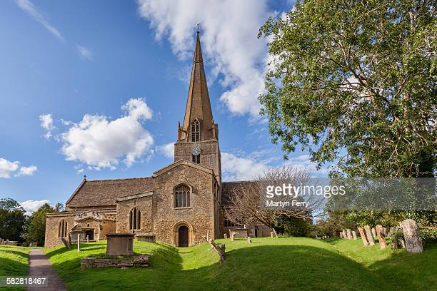 st mary's church - oxfordshire stock pictures, royalty-free photos & images