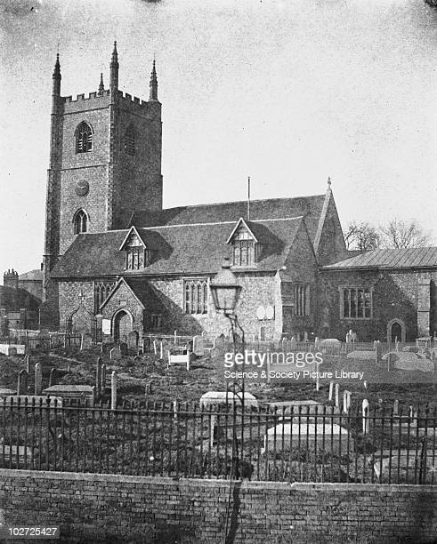 St Mary's Church Reading c1840s Calotype print from a paper negative by William Henry Fox Talbot Fox Talbot invented the negative/positive process...