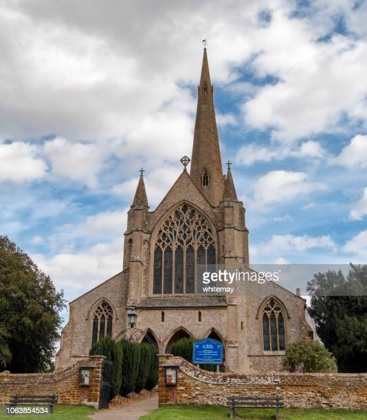 st mary's church, snettisham, norfolk - chert stock photos and pictures