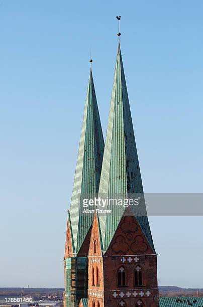 St Mary's church spires in Lubeck