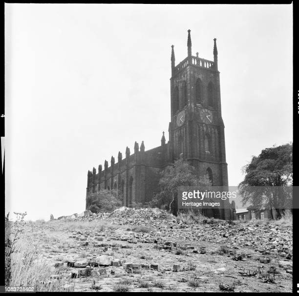 St Mary's Church St Mary's Street Quarry Hill Leeds West Yorkshire 19661974 View of the church seen from the northwest amidst the rubble from the...