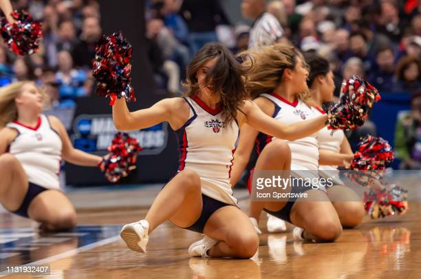 St Mary's Gaels cheerleaders during the first half of the NCAA Division I Men's Championship first round college basketball game between the...