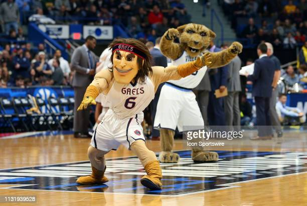 St Mary's Gaels mascot during the basketball game between St Mary's Gaels and Villanova Wildcats on March 21 at the XL Center in Hartford CT
