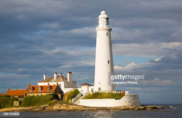 St Mary's lighthouse, Whitley Bay, Northumberland.