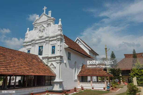 st mary's orthodox syrian church, kottayam cheriyapally, kerala, india - kerala stock pictures, royalty-free photos & images