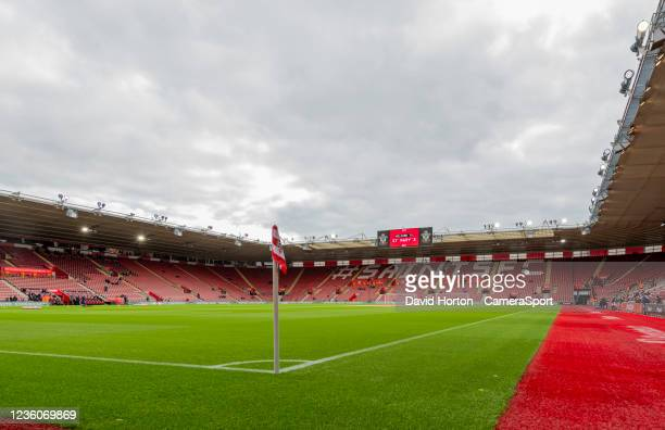 St Mary's Stadium - home of Southampton FC during the Premier League match between Southampton and Burnley at St Mary's Stadium on October 23, 2021...