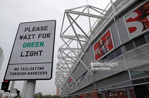St Mary's Stadium, home to English Premier League Club Southampton FC, is pictured in Southampton, southern England on April 17, 2020.