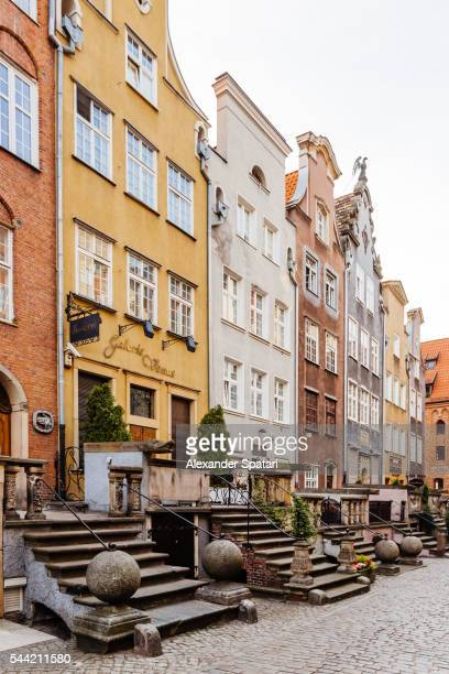 st mary's street (ulica mariacka) in gdansk, poland - gdansk stock pictures, royalty-free photos & images