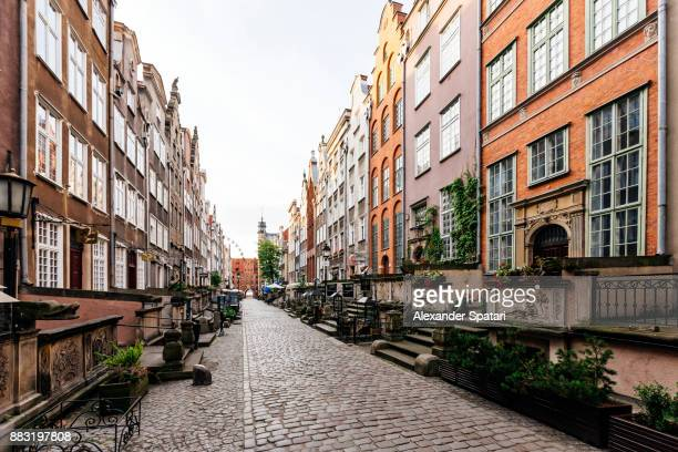 st. mary's street (ul. mariacka) in gdansk, poland - european culture stock pictures, royalty-free photos & images