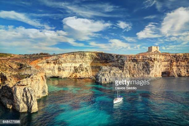 St. Mary's Tower in Comino Island, Malta