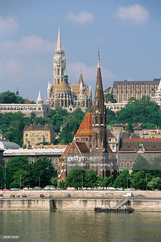 St. Matthis Church and city, Budapest, Hungary, Europe : Foto de stock
