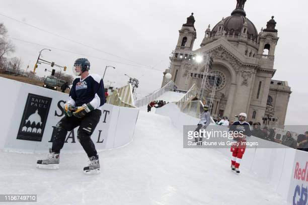 St Mayor Chris Coleman did a test run on the Red Bull Crashed Ice World Championship course Thursday morning in St Paul ]