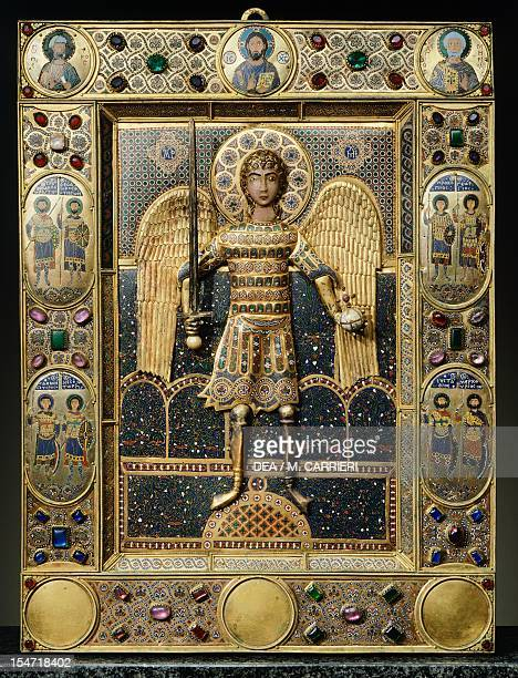 St Michael of Constantinople icon The Treasury St Mark's Basilica Venice Byzantine Goldsmith art Italy 11th century
