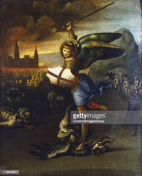 St Michael the Archangel Raphael Italian artist Louvre Paris