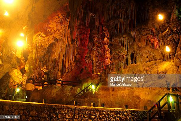 st michael's cave - gibraltar - gibraltar stock pictures, royalty-free photos & images