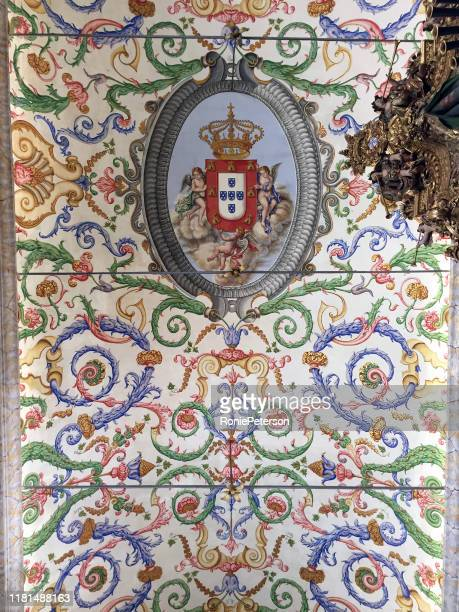 st. michael's chapel ceiling - coat of arms stock pictures, royalty-free photos & images