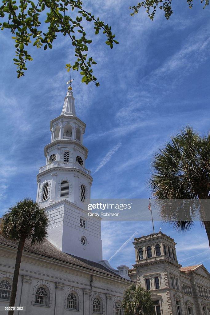 St Michaels Church, Charleston, SC : Foto stock