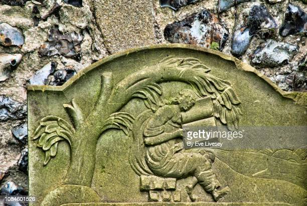 st michael's church graveyard - chert stock photos and pictures