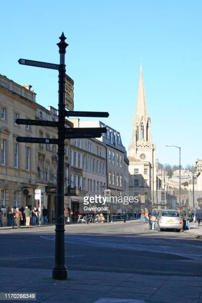 st michael's church in bath - gwengoat stock pictures, royalty-free photos & images