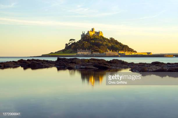 st michael's mount, cornwall, england, uk - history stock pictures, royalty-free photos & images