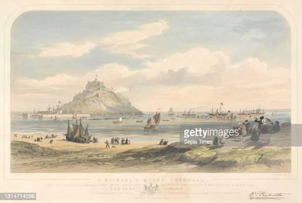 St. Michael's Mount, Cornwall, Thomas Picken, active 1838–died 1870, British, after unknown artist, , c.1850.