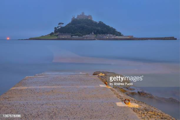 st michael's mount, cornwall, united kingdom - st michael's mount stock pictures, royalty-free photos & images