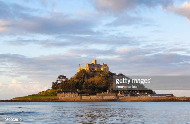 st michael's mount in cornwall - cornwall england stock pictures, royalty-free photos & images