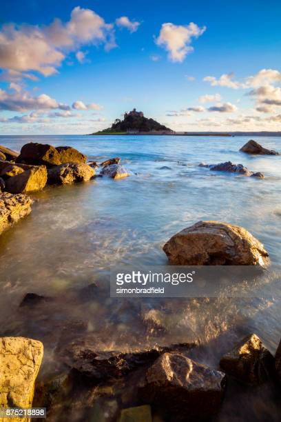 st michael's mount in cornwall - southwest england stock photos and pictures