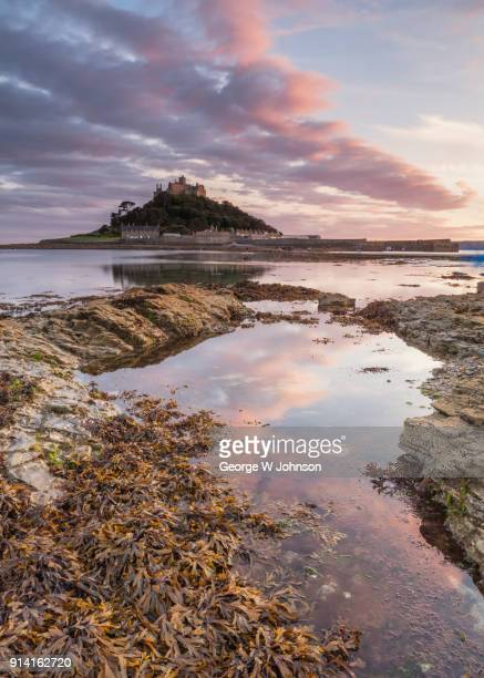 st micheal's mount - st michael's mount stock pictures, royalty-free photos & images