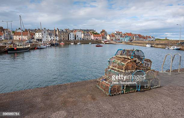 st monans harbour - fishing village stock pictures, royalty-free photos & images