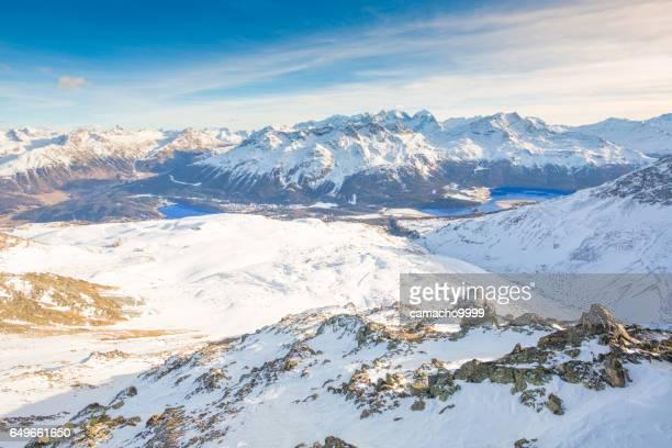 St. Moritz vom Piz Nair-Alpen