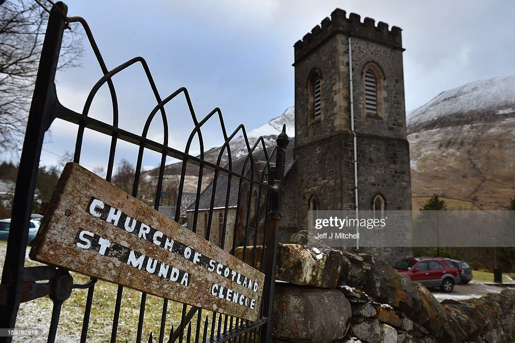 St Munda's Church, where prayers were being offered for the people affected by an avalanche that killed four climbers and left a fifth with head injuries on January 20, 2013 in Glencoe, United Kingdom. A party of six, three men and three women were descending Bidean Nam Bian close to Church Door Buttress when the snow slope broke away.