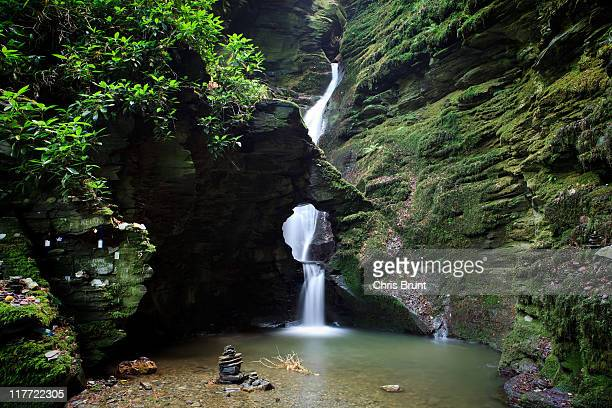 st nectans kieve waterfall - valley stock pictures, royalty-free photos & images
