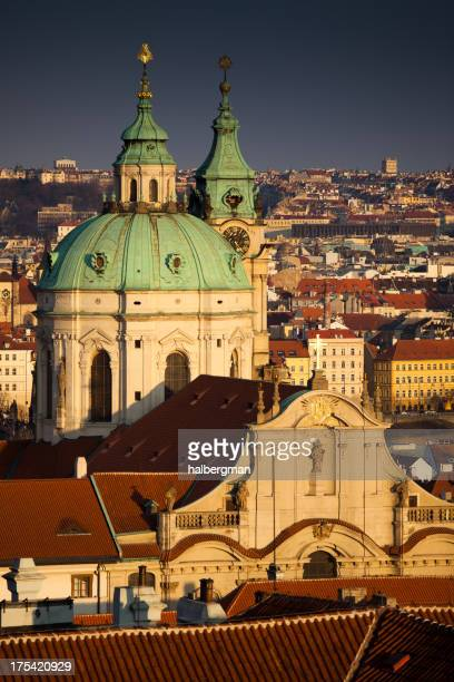 st. nicholas cathedral, prague - st. nicholas cathedral stock pictures, royalty-free photos & images