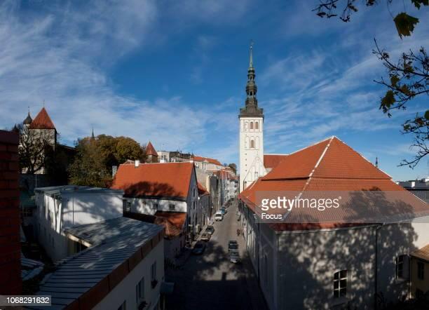 St Nicholas Church and Raatli Street in Tallinn Old Town.